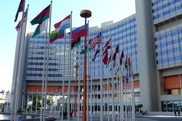 国連の入り口