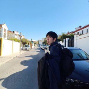 スペインにいるYuta