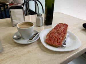 スペインでの朝食