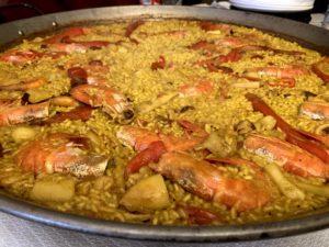 スペイン料理のパエリア
